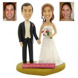 Wooden Anniversary Wedding Cake Toppers