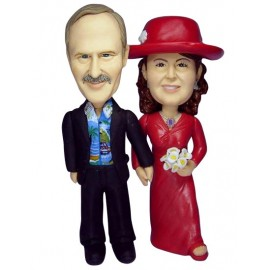 25th Silver Anniversary Wedding Cake Toppers