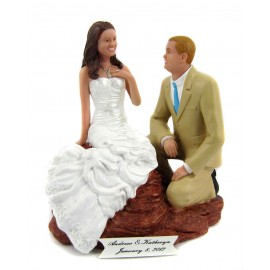 Proposal Beach Wedding Cake Toppers