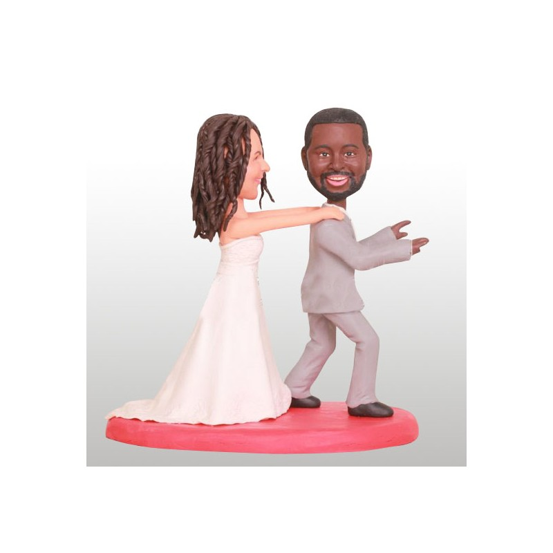 Interracial Wedding Cake Toppers Ball And Chain