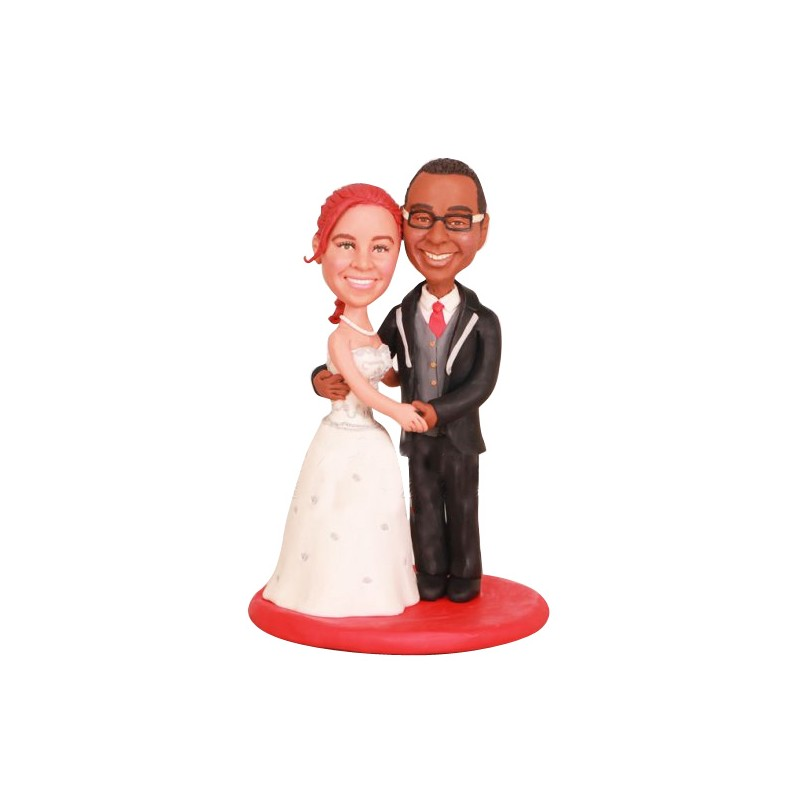 Biracial Wedding Cake Toppers