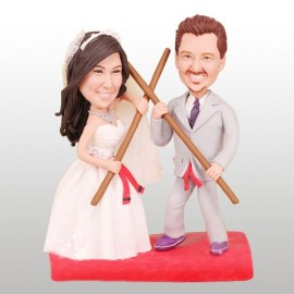 Kung Fu Martial Arts Theme Wedding Cake Toppers