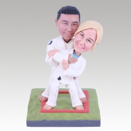 Jiu-Jitsu Martial Arts Theme Wedding Cake Toppers
