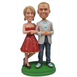 Custom 25th Wedding Anniversary Cake Toppers