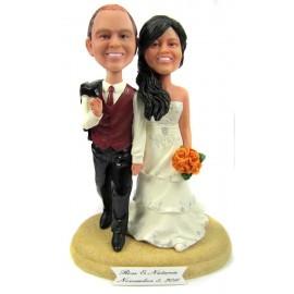 Custom Wooden Wedding Anniversary Cake Toppers