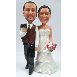 Custom Wooden Wedding Anniversary Cake Toppers