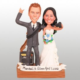 Guitar And Photography Wedding Cake Toppers