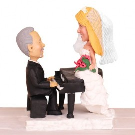 Piano Theme Wedding Cake Toppers