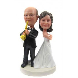 Saxophone Wedding Cake Toppers