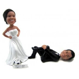 Soccer Wedding Cake Toppers
