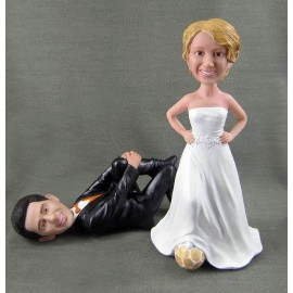 Unique Soccer Wedding Cake Toppers