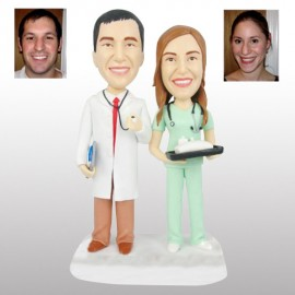 Doctor and Nurse Wedding Cake Toppers