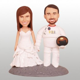 Spaceman Wedding Cake Toppers
