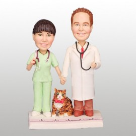 Nurse and Doctor Cake Topper