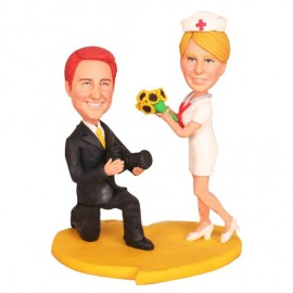 Photographer and Nurse Wedding Cake Toppers