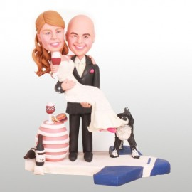 Pilot Wedding Cake Toppers