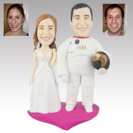 Astronaut Space Theme Wedding Cake Toppers