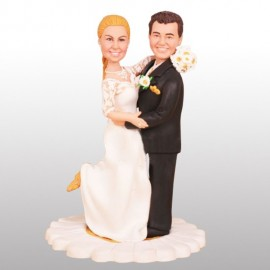 Classic Daisy Theme Wedding Cake Toppers