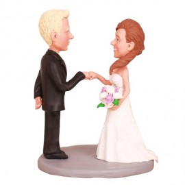Fist Bump Wedding Cake Toppers