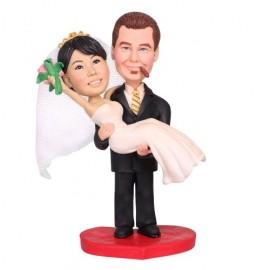 Groom Picking Bride Up Wedding Cake Toppers