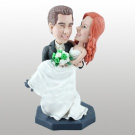 Classic Handmade Bride Groom Wedding Cake Toppers