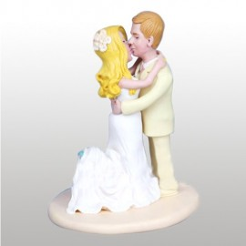 Kissing Bride and Groom Wedding Cake Toppers