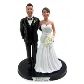 Arms Around Custom Wedding Cake Toppers
