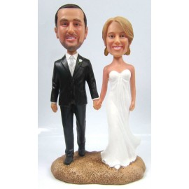 Classic Beach Wedding Cake Toppers