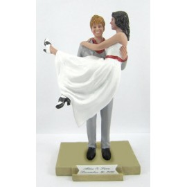 Classic Carrying The Bride Wedding Cake Toppers