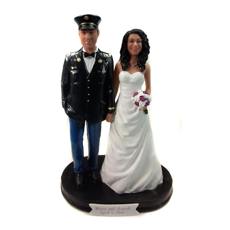 Army Officer Military Wedding Cake Toppers