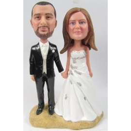 Custom Bride And Groom Wedding Cake Toppers With Pets