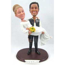 Custom Bride And Groom Wedding Cake Toppers