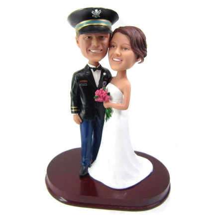 army officer military wedding cake toppers. Black Bedroom Furniture Sets. Home Design Ideas