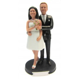 Classic Custom Smiling Wedding Cake Toppers