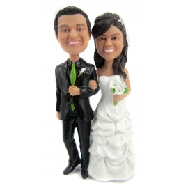 Classic Handmade Bride And Groom Wedding Cake Toppers