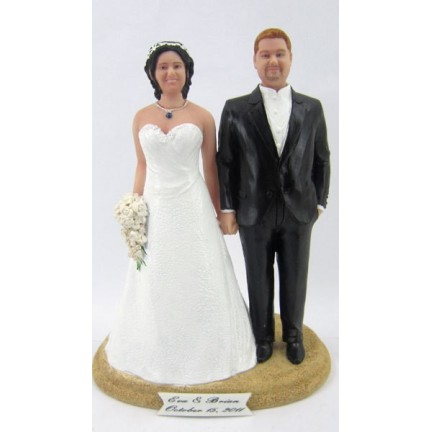 Classic Creative Plus Size Bride And Groom Wedding Cake Toppers