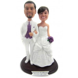 Classic Bride And Groom Wedding Cake Toppers
