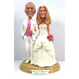 Classic Creative Bride And Groom Wedding Cake Toppers