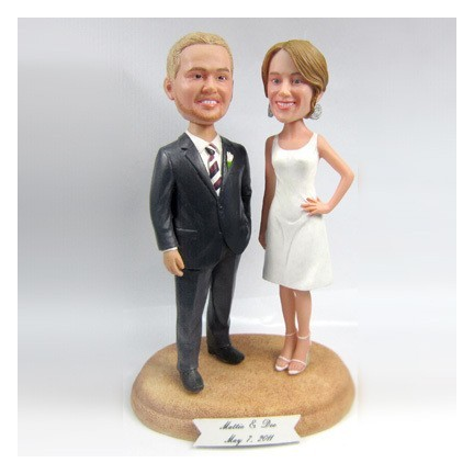 Classic Custom Bride And Groom Wedding Cake Toppers