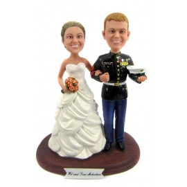Marine Corps Military Wedding Cake Toppers