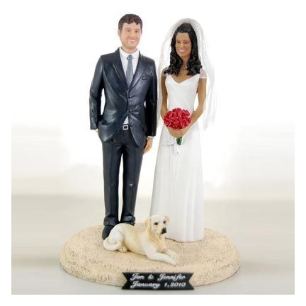 Classic Personalised Bride And Groom Wedding Cake Toppers