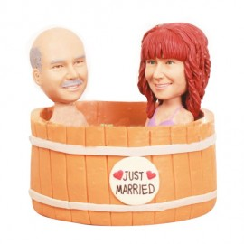 Funny Hot Tub Wedding Cake Toppers