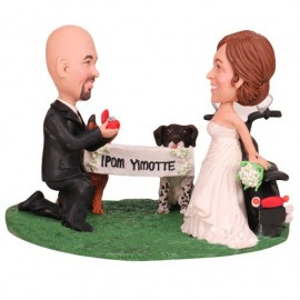 Proposal Engagement Wedding Cake Toppers