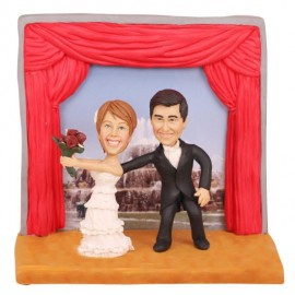 Re-united Through Facebook Wedding Cake Toppers