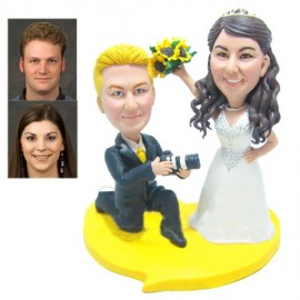 Funny Personalised Photographer Wedding Cake Topper