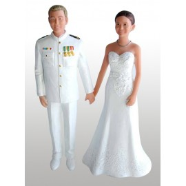 Navy Officer Military Wedding Cake Toppers