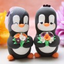Personalised Same Sex Penguin Wedding Cake Toppers