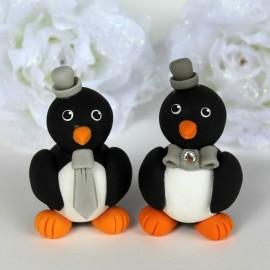 Unique Gay Same Sex Penguin Love Bird Wedding Cake Toppers