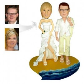 Hawaiian beach Theme Wedding Cake Toppers