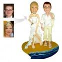 Hawaiian beach Theme Wedding Cake Toppers